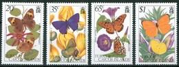 1982 Turks E Caicos Farfalle Butterflies Schmetterlinge Papillons Set + Block MNH** Fo131 - Turks E Caicos