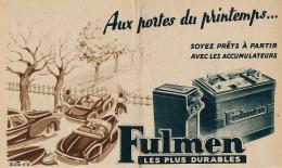 Ancienne Publicite (1951) : Batterie, Accumulateur FULMEN, Aux Portes Du Printemps... Soyez Prêts à Partir - Advertising