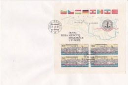 Ceskoslovensko 1982 FDC Donau Ships Souvenir Sheet (LAR3-B27) - Ships