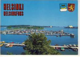 HELSINGFORS, HELSINKI - Pohjoissatama - Tervasaari, Norra Hamnen - Tjärholmen, Nice Stamp - Finlande