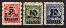 Deutsches Reich, 1923, Mi 334 (*); 335-336 B * [150116StkKV]