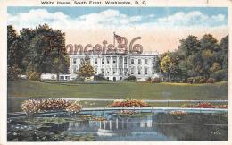 White House South Front - Garden Pond - Washington DC