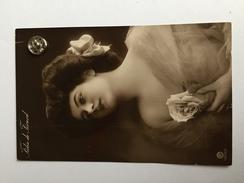 FEMMES - FRAU - LADY - SPECTACLE - ARTISTE - Jolie Carte Fantaisie Portrait Femme Artiste - FEDIA DE FÉRARD (Fleur) - Women