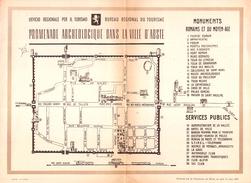 """05659 """"AOSTA - PROMENADE ARCHEOLOGIQUE  DANS LA VILLE D'AOSTE - PIEGHEVOLE ILLUSTRATO - 1949"""" ORIGIN. - Pubblicitari"""