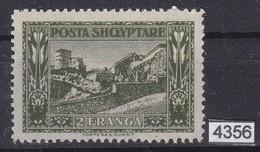 ALBANIA 1922, Mi. 89, 2 FRANGA, POSTA SHQYPTARE, MH, See Scans - Albanie