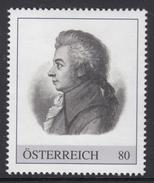ÖSTERREICH 2016 ** Wolfgang Amadeus MOZART, Komponist, Composer - PM Personalisierte Marke MNH - Musik