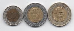 Equateur : Lot De 3 Pièces BIMETAL 100-1000-1000 Sucres 1996-1997