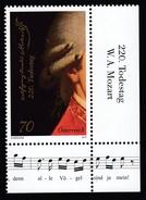 ÖSTERREICH 2011 ** W. A. MOZART Komponist, Composer / 220.Todestag - Mit Eckrand MNH - Musik