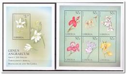 Liberië 1999, Postfris MNH, Flowers, Orchids - Liberia