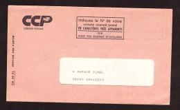 Courrier D'essai - Enveloppe CCP à Fenêtre, Adresse 92 Asnières, Fermée - Indexation D'acheminement - Cours D'Instruction