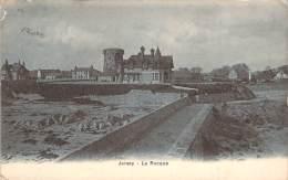 Jersey - La Rocque (villa) (surimprimé Au Dos Best Wishes For The New-Year) - Jersey