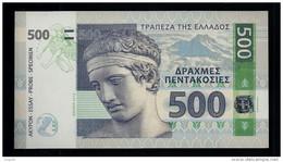 """""""GREECE 500 Units"""", Entwurf, Beids. Druck, RRRR, UNC, Ca. 143 X 78 Mm, Essay, Trial - Grecia"""