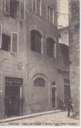 096- CARTOLINA - FIRENZE - CASA OVE NACQUE IL DIVINO POETA DANTE ALIGHIERI  - VIAGGIATA NEL 1911 ANNULLO OTTAGONALE - Firenze (Florence)