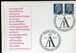 VR 633  Allemagne RDA Entier Postal 2 X 5 Du 4.10.72 - [6] République Démocratique