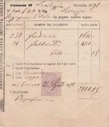 Steuerbeleg 1871 Mit Marca Da Bollo (i051) - 1861-78 Victor Emmanuel II.