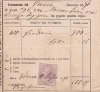 Steuerbeleg 1871 Mit Marca Da Bollo (i052) - 1861-78 Victor Emmanuel II.