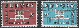 Belgium SG1862-1863 1963 Europa Set 2v Complete Good/fine Used [33/28707/6D] - Belgium