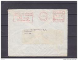 Israël - Lettre De 1956 ° - EMA - Empreintes Machines - Oblitération Tel Aviv - Exp Vers La Belgique - Briefe U. Dokumente