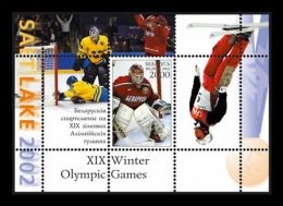 Belarus 2002 Mih. 446 (Bl.27) Belarus Sportsmen At Olympic Winter Games In Salt Lake City MNH ** - Belarus