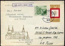 VR 643  Pologne Entier Postal Réponse Payée Avec Complément D'affranchissement Oblitération Saarbrucken 6.2.69 - Lettres & Documents