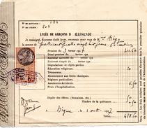 73Di   04 Digne Lycée Gassendi Quittance De Pension En 1927 - Bills Of Exchange