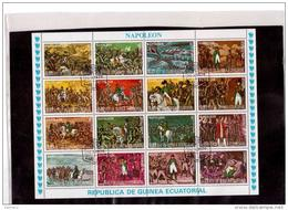 """336      -     GUINEA ECUATORIAL      -    MINIFOGLIO USATO  """" NAPOLEON """" - Napoleone"""