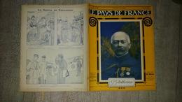Revue Le Pays De France N° 126 Mars 1917 Général Anthoine Sous Marin Ballon Guerre Ww1 Caricature