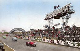 24 Heures Du Mans  -  Tableau D'Affichage Et Virage Des Tribunes  -  CPA - Le Mans