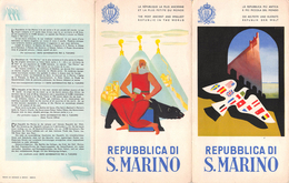 """05660 """"REPUBBLICA DI SAN MARINO - PIEGH. PUBBL. ILL. DI Mario Puppo (Levanto, 1905-Chiavari, 1970) - CIRCA 1950"""" ORIGIN. - Pubblicitari"""