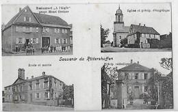 RITTERSHOFFEN SOUVENIR DE  4 VUES  RESTAURANT A L AIGLE  ECOLE. PRECIP CATHOLIQUE . EGLISE . DEPT 67 - France