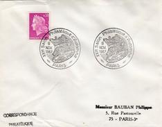 LETTRE MARIANNE DE CHEFFER 0.30 - CACHET ROND XXIe SALON PHILATELIQUE D'AUTOMNE HISTOIRE DE FRANCE - PARIS 9 11 1967 / 5 - 1961-....