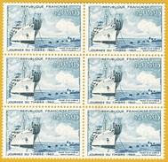 """France**LUXE 1960 Bloc De 6, P 1245 Vf O,20 F + O,05 F. Le Navire Câblier """"Ampère"""", Journée Du Timbre, Avec Surtaxe - Nuovi"""
