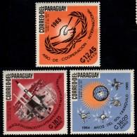 ~~~ Paraguay 1966 - Espace Sujets Divers -  Mi. 1524/1526  ** MNH ~~~ - Paraguay
