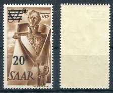Saarland Michel-Nr. 237Z Postfrisch - 1947-56 Allierte Besetzung