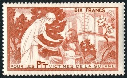 France - Vignette Bienfaisance PTT 'Victimes De La Guerre' N°59 **  ..Réf.FRA28866 - Erinnophilie