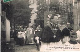 Fete De La Bienheureuse Marguerite Marie Monseigneur Villard Se Rendant à La Basilique - Paray Le Monial
