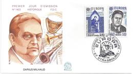 ENVELOPPE 1er JOUR - FDC - N° 2366 Et 2367 - DARIUS MILHAUD - EUROPA - FDC