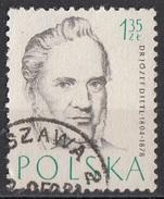 774 Polonia 1957 Medicina Dottore Jozef Dietl (1804-1878) Viaggiato Used Balneoterapia - Medicina