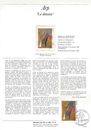 NOTICE PTT 1986 LA DANSEUSE DE ARP - Documents Of Postal Services
