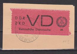 """DDR, ZKD D1I Plattenfehler I """"fehlende Granne"""" Gest.  Bf.-Stück Stolpen Kr. Sebnitz, Vertrauliche Dienstsache - [6] Democratic Republic"""