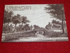 """BRUXELLES -  Le Pont De Laeken En 1793  - """" Petites Annonces De La Dernière Heure """" - Monuments"""