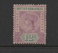 British Honduras 1891 Queen Victoria 12c Mauve & Green.Unused. - British Honduras (...-1970)