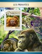 Djibouti - Postfris / MNH - Sheet Apen 2017 - Djibouti (1977-...)