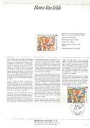 NOTICE PTT 1987 PEINTURE - BRAM VAN VELDE - Documents Of Postal Services