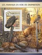 Djibouti - Postfris / MNH - Sheet Bedreigde Diersoorten 2017 - Djibouti (1977-...)