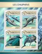 Djibouti - Postfris / MNH - Sheet Dolfijnen 2017 - Djibouti (1977-...)