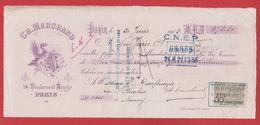 Chèque --  Ch . Marchand Paris  --   20 Juin 1902 - Assegni & Assegni Di Viaggio