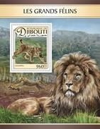 Djibouti - Postfris / MNH - Sheet Grote Katachtigen 2017 - Djibouti (1977-...)