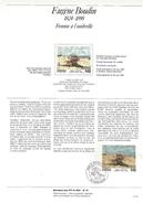 NOTICE PTT 1987 FEMME A L'OMBRELLE D'EUGENE BOUDIN - Documents Of Postal Services