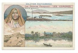 Les Comores Colonies Françaises Ichoui Ile Amsterdam Baie De La Gazelle TB 14 X 9 Cm Pub: Solution Pautauberge - Chromos